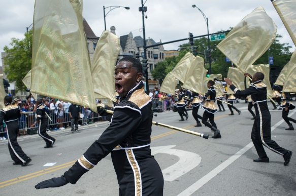 The South Shore Drill Team performs during the 88th annual Bud Billiken Parade, Saturday, August 12, 2017.